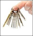 39922846 - man holds keys in hand